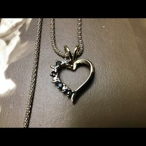 Jewelry - 🎈Sapphire 925 Sterling Silver Necklace a heart